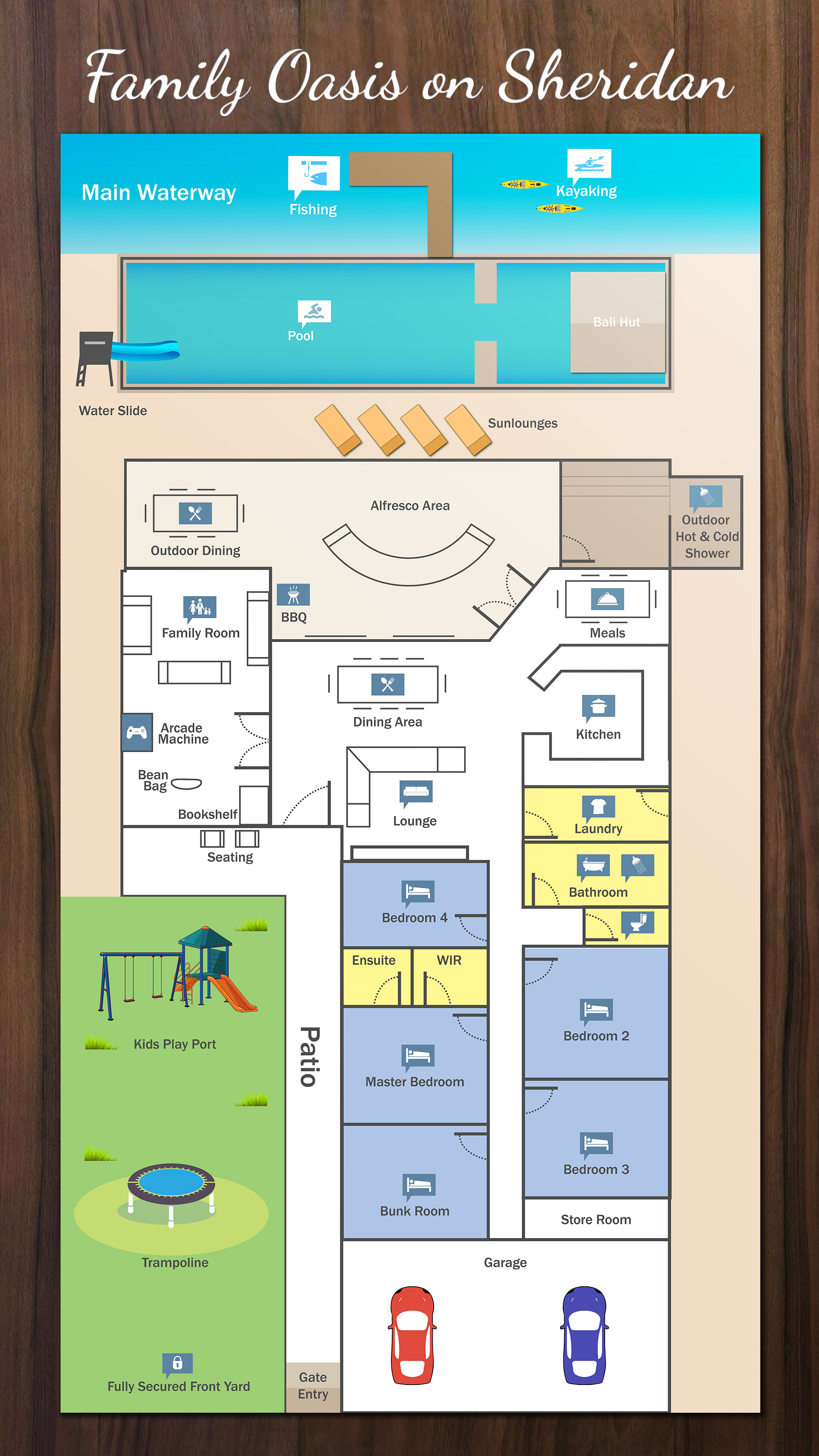 Sheridan floor plan family oasis holiday homes for Holiday home builders floor plans